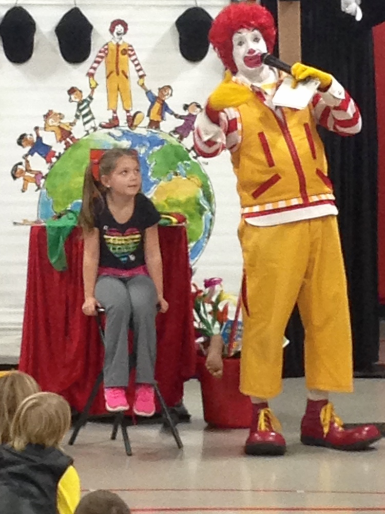 Ronald McDonald Pays a Visit to Strum Primary School