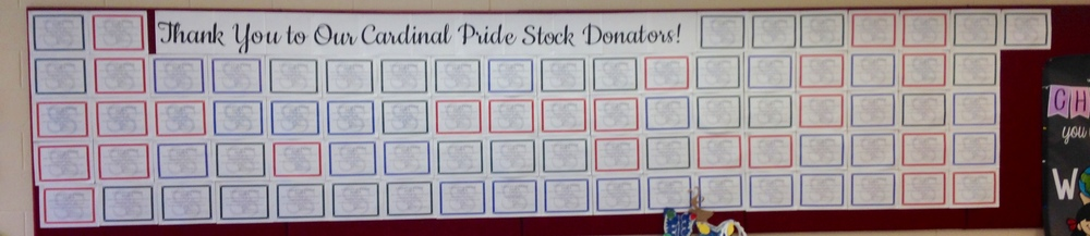 The Stock in Cardinal Pride Wall Is Almost Full