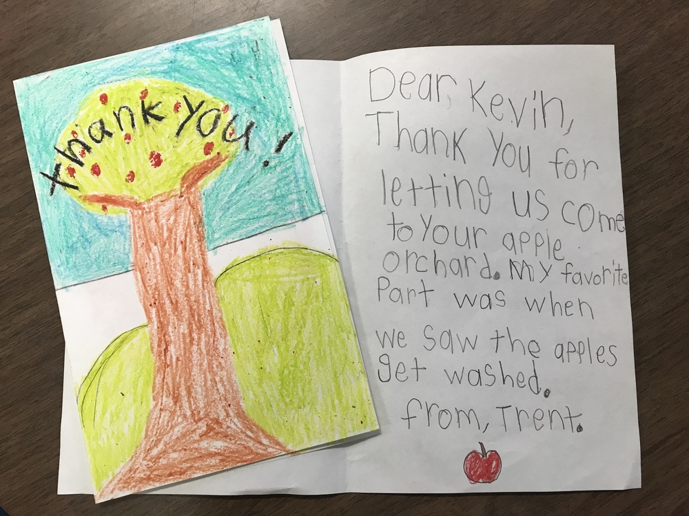 Apple to Thank You in 2nd Grade