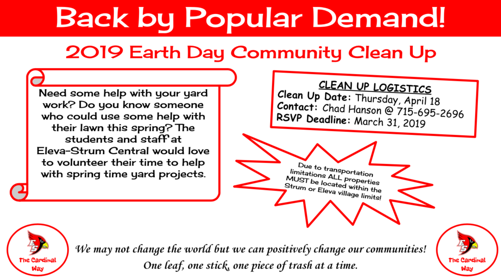 2019 Earth Day Community Clean Up