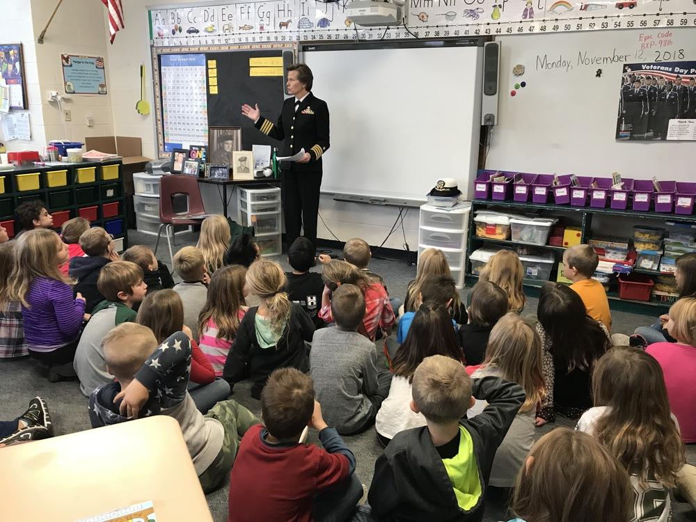 Captain Haidvogel Visits First Grade