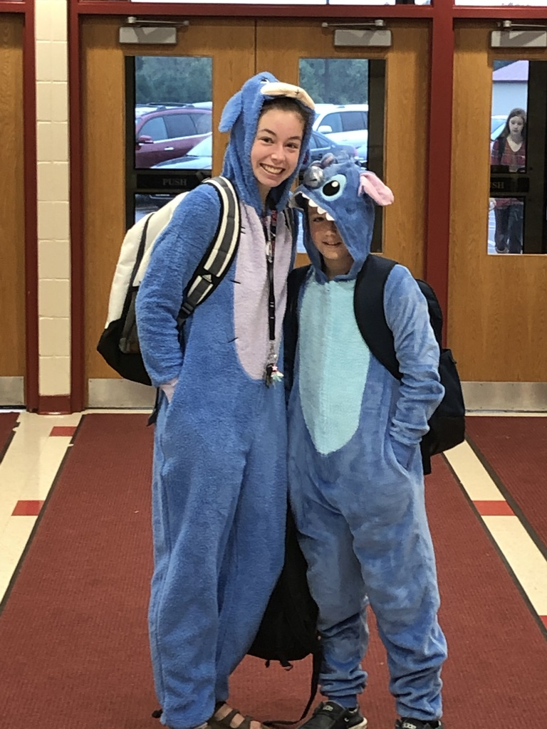 Students dressed in Pajamas for Homecoming Week festivities