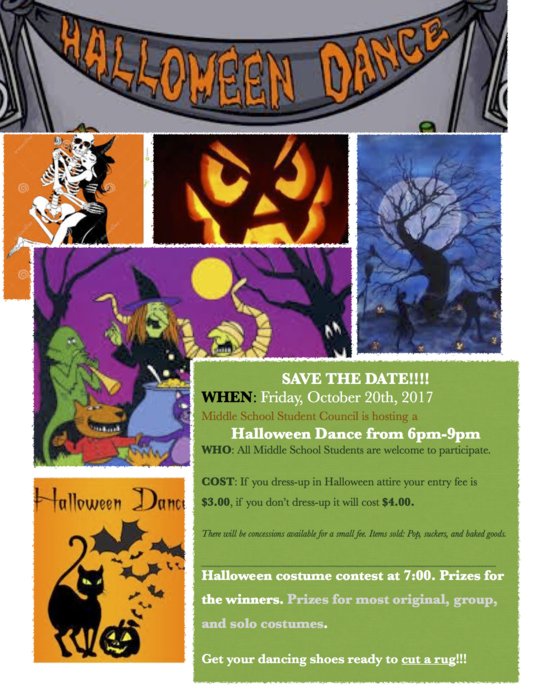 Middle School Halloween Dance Poster