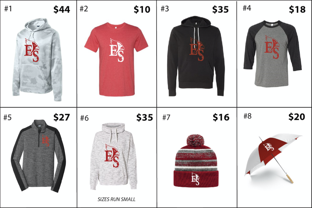 Spirit Wear Items