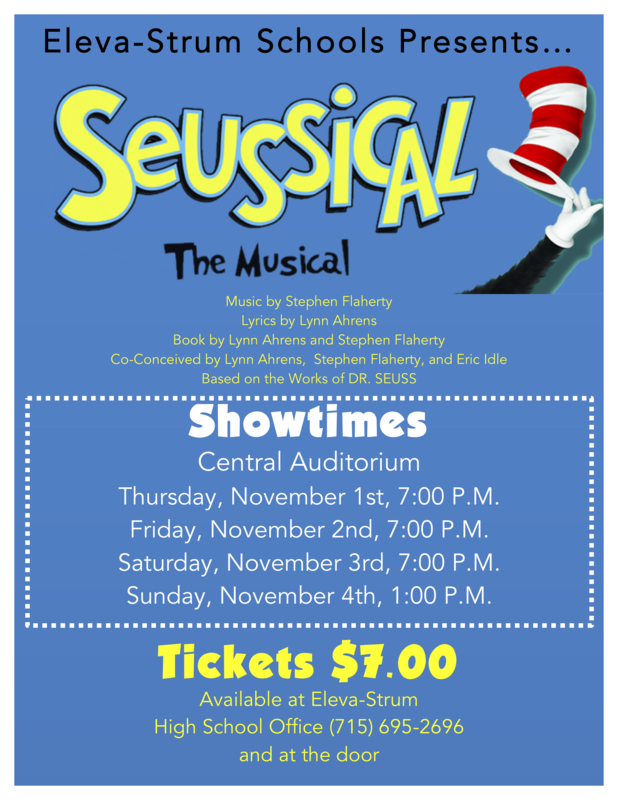 Seussical Musical Poster
